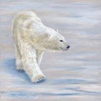 Polar Stroll – 6x6 acrylic