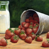 strawberries-cream-8x10-acrylic